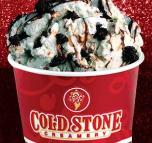 Coldstone Mint Mint Chocolate Chocolate Chip. I can't even say the lengthy name of this specialty ice cream without drooling.