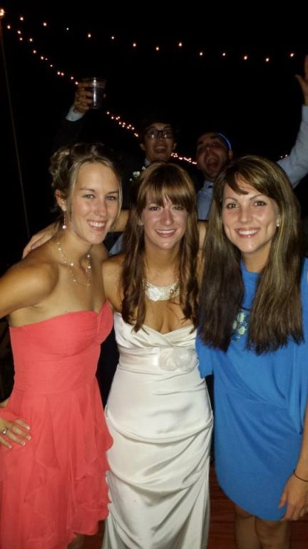 "My two college besties (and yes, we are ""the three best friends that anyone could have"")."