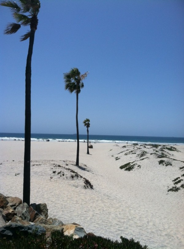 The beach on Coronado Island, CA