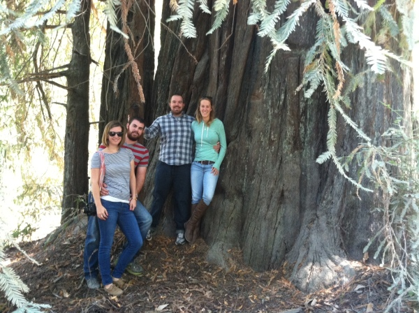 Our vacation family portrait among the redwoods.