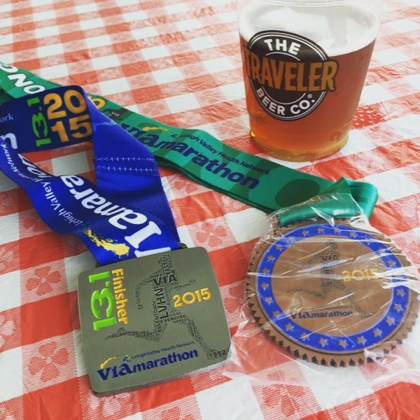 A new PR and third in my age group. And beer, of course.